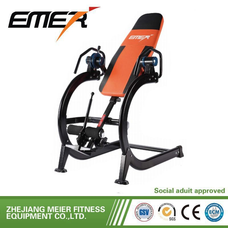 outdoor sport gym body building hom gym equipment inversion table with vibro massager & heat