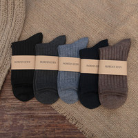 black mens socks winter dress wool 100 polyester socks man