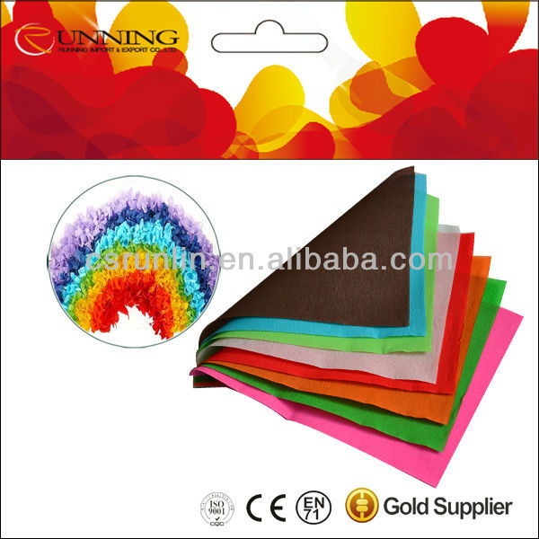 color tissue paper for DIY handmade crafts