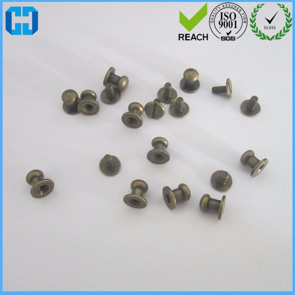 Bronze Plated Brass Small Head Screwback Button Stud For Leather Bag