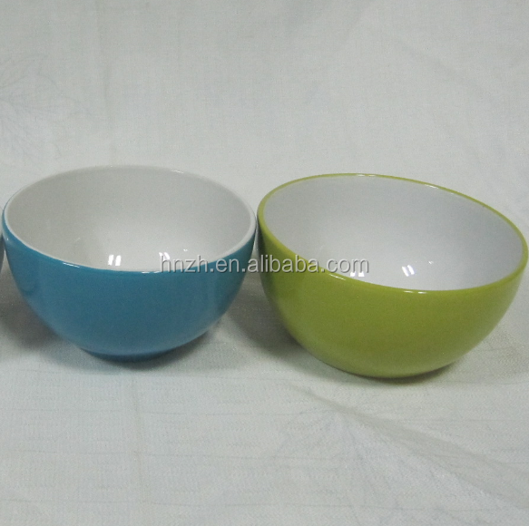 hot sale 5.5 inch two color glaze ceramic stoneware stock cheap bowl