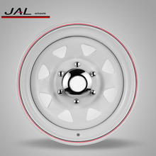 Top quality Factory price 13inch 14inch 15inch white 8 spoke trailer steel car wheel rims