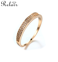 925 sterling silver jewelry 18k gold plated jewelry smart ring pave setting fashion jewellery