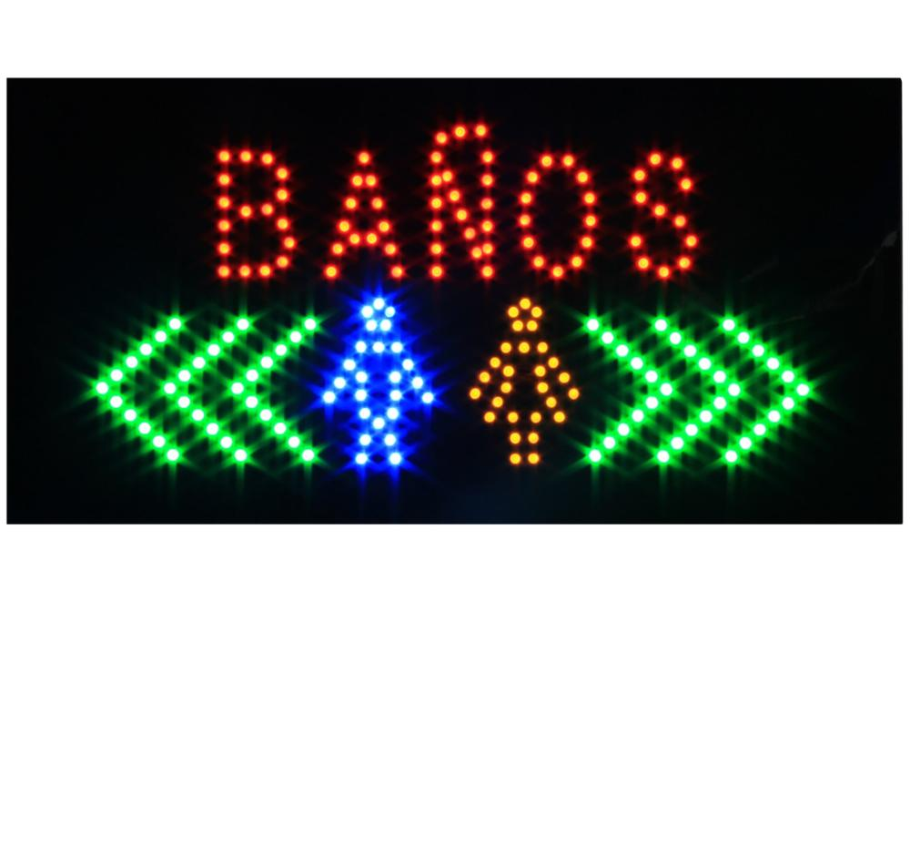 Hidly 9*19 Inch Banos Arabes LED <strong>Sign</strong> for Business Displays |Lighted <strong>Sign</strong> for Shower Shop