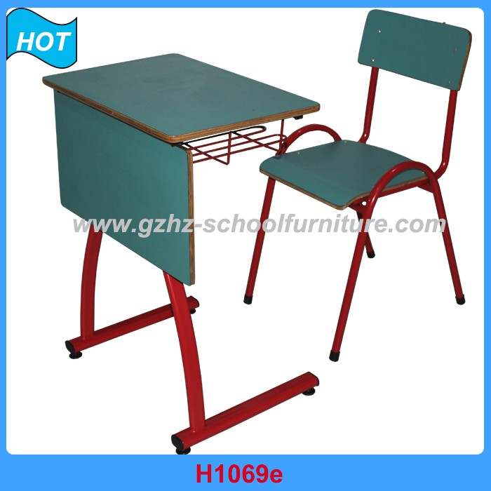 wooden student table and chair for study