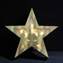 Best selling table art rustic amusement star lights