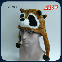 Custom New style warm animal fur plush winter hat