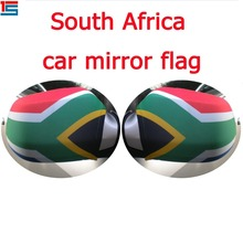 2018 Wholesale stretchy South Africa flag car mirror cover