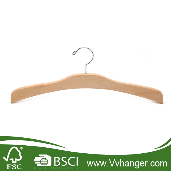 LH059 Wholesale good quality wood hanger made of 1 piece of wood