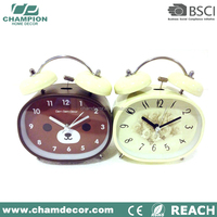 Design metal bell vintage desk alarm clock , vintage table clock home decoration