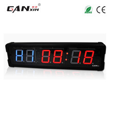 "[GANXIN]4"" Double Side Electronic Number Display System Modern Design Crossfit Clock Interval Function Led Gym Timer"