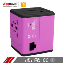 CE FCC ROHS Worldwide Plug Charger Travel Wifi Adaptor AC DC Cooperated Universal Adapter