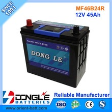Super Quality Delkor Type Auto Battery 12V 46B24R