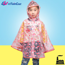little kids full print raincoat for boys with hood and snaps