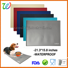 2017 Wholesale XXL WATERPROOF Silicone Pet food feeding mat