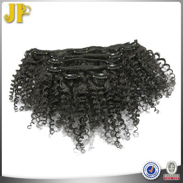JP HAIR Easy To Wear Clips In Virgin Brazilian Hair Curly Extensions