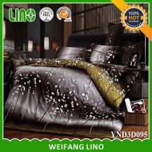 3 d bed sets/wholesale bed linen/plastic bag for packing bed sheet