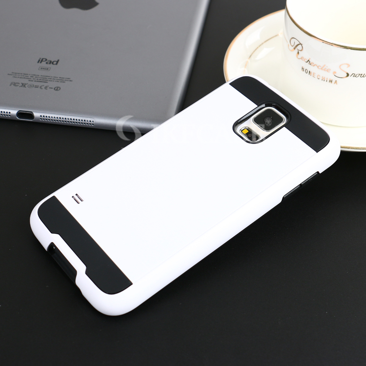 2016 new arrival soft tpu hard pc phone wiredrawing cases for Samsung GALAXY S5