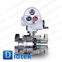Didtek Gear Operated 6 inch 900LB WCB Cast Steel Flange End Self-cavity Pressure Relief Trunnion ball valve