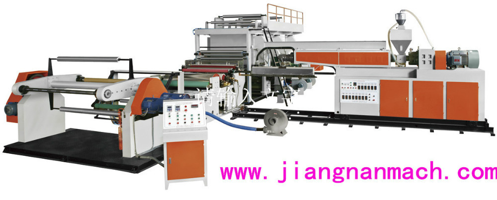 High Speed Full Automatic PE / PVC Paper Extrusion Casting Coating Large Size Laminating Machine
