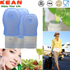 china manufacturer reusable portable silicone travel bottle/travel cosmetic bottle set