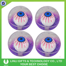 55mm Glitter Water Eyes TPU Rubber Bouncing Ball