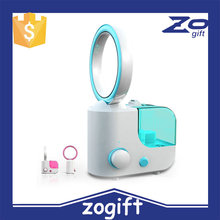 ZOGIFT NEW! Popular! Best sellers ! Portable mini No leaf fan humidifier/Ultrasonic aroma diffuser
