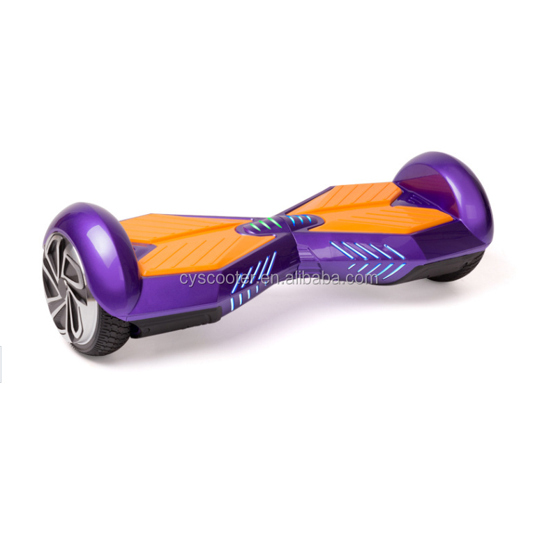 2 wheeled hand free hoverboard skateboard