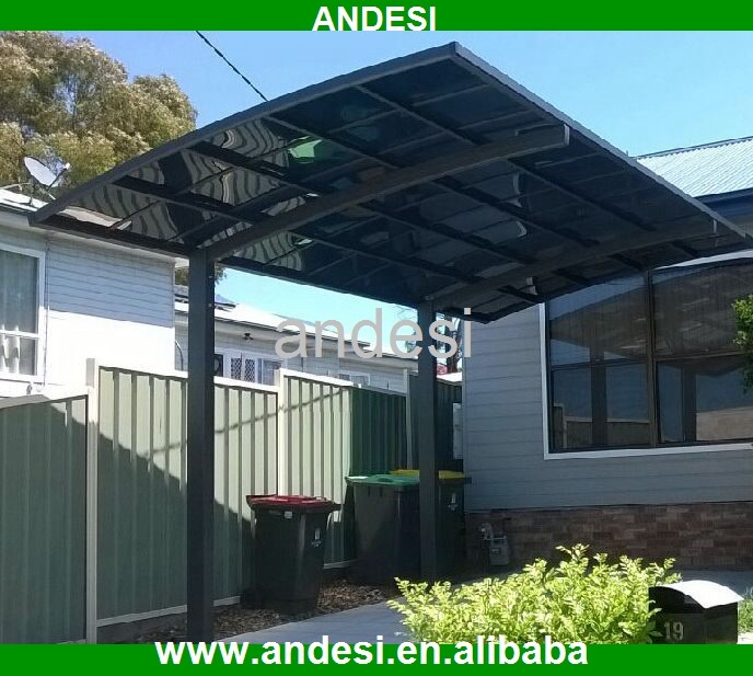 Plastic Carport Canopies : Plastic carport with arched roof for garden sun shade