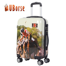 Uborse abs luggage Black hard shell travel house luggage/trolley luggage with wheels
