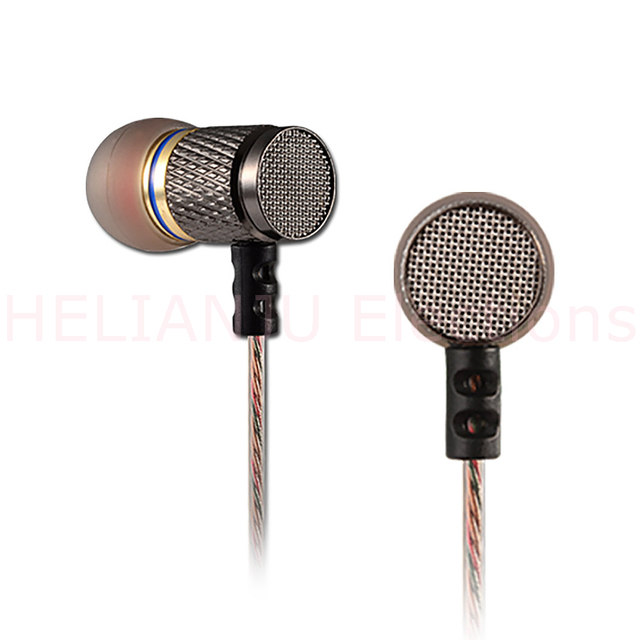 KZ ED2 Stereo cheap Metal Earphones with Microphone Noise Cancelling Earbuds In Ear Headset DJ XBS BASS Earphone HiFi Ear Phones