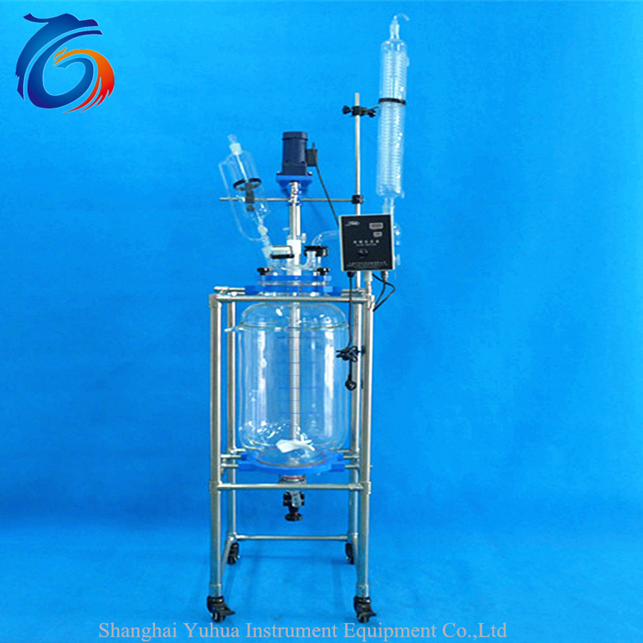 Customer satisfaction 80L jacketed glass reactor