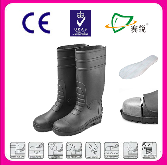 Custom acid-resistant steel toe safety rain boots comprehensive protection for feet