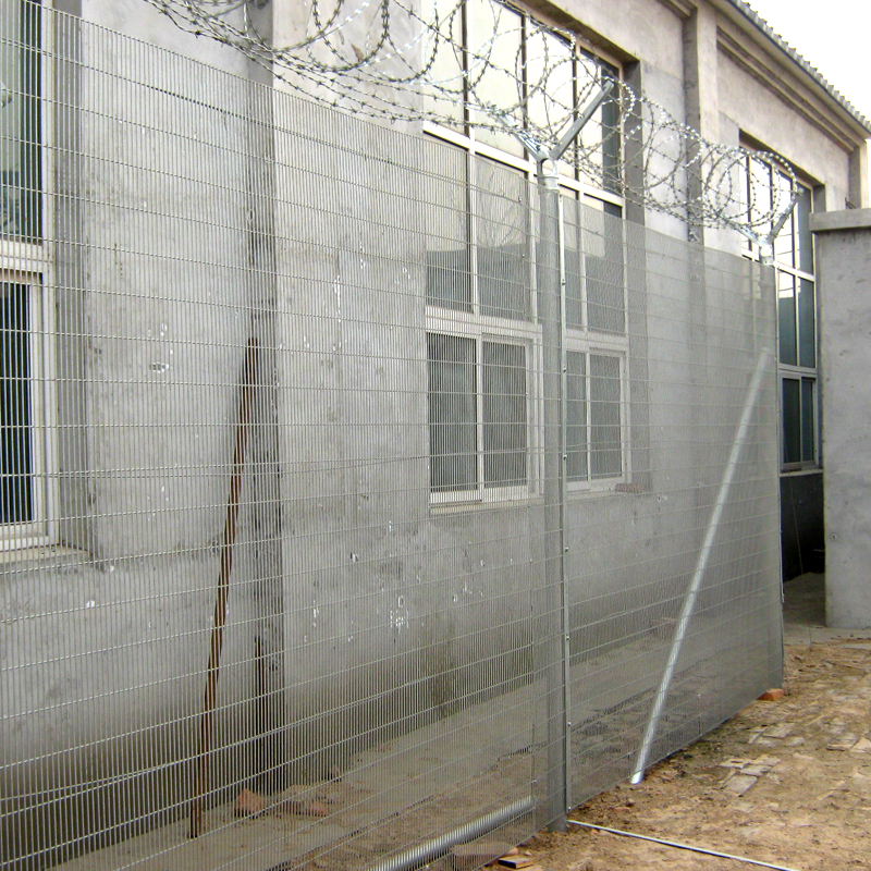 SGS electro galvanized 358 anti climb safety barrier fence for prison
