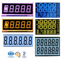 HS0025S-VB custom 7 segment STN Reflective lcd display screen