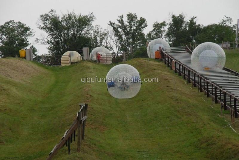 China venda direta da Fábrica bola zorb inflável para grass hill praia