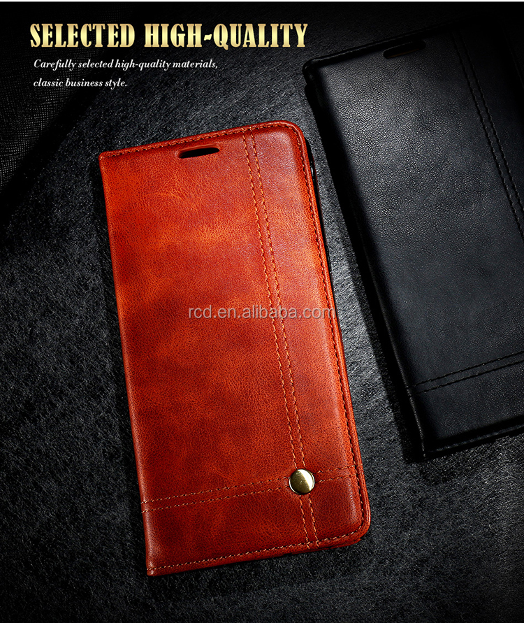 China Manufacturer Leather Mobile Phone Case For Iphone 7 Flip Cover