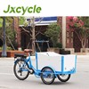 back electric cargo bicycle for children kids family