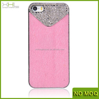 Luxury crystal diamond case cover for iphone 5g 4g, leather case for iphone with china manufacturer