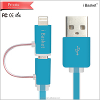 cheap price 2015 new micro usb data cable with led light for samsung galaxy s5