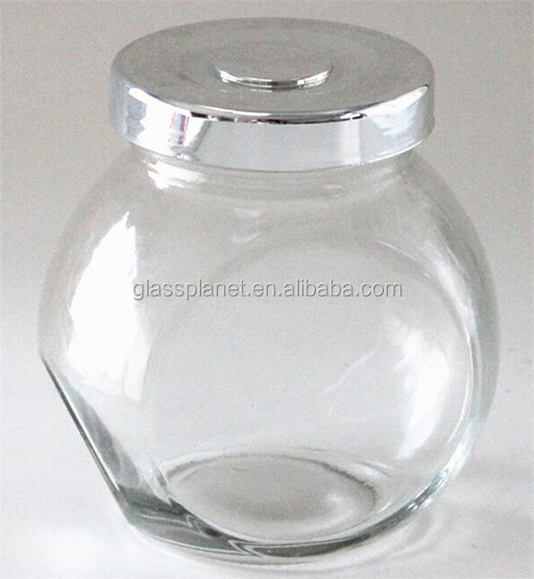 Glass Slant Jar for Gifts Weddings Honey Jams, 180ml