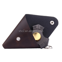Fidget Hand Spinner Triangle Finger Toy Fingertip Gyro Triangle Genuine Leather Case Good Bag without Fingertip Gyro
