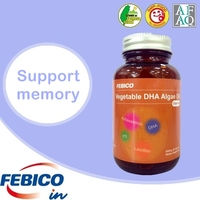 100% Pure Clean Natural Algae DHA Oil Capsule Support Memory No Risk of Ocean-borne Contaminants
