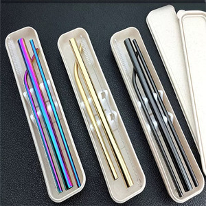 stainless steel straw with case