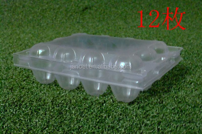 12pcs quail products quail egg packing clear pastic tray