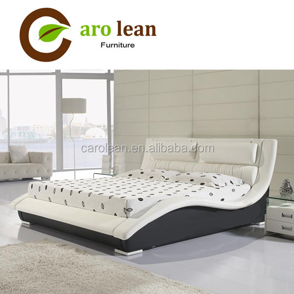 C325 leisure design leather living room bed