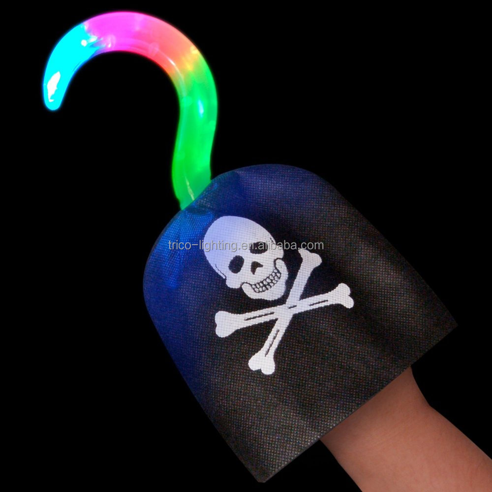 Light Up Pirate Hook with Multi-function LEDs