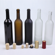 750ml clear green brown glass wine bottle with stopper