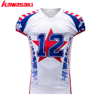 2017 New style design custom you logo with two needle coverstitch American football jersey