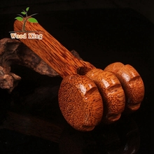 Custom LOGO Coconut Wood Element Face Health Back Massage Equipment Roll Body Back Massager